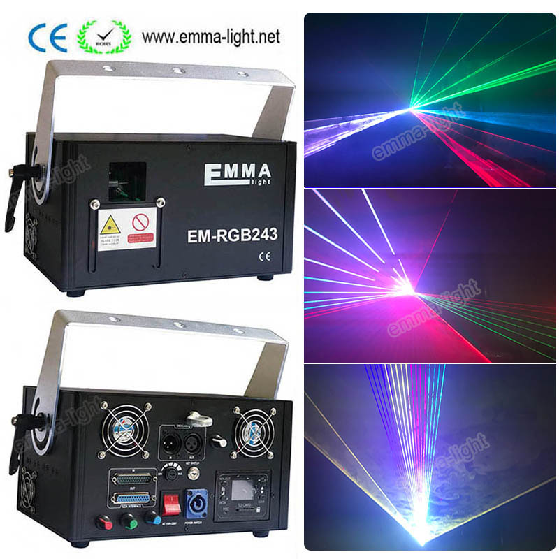 Commercial Lighting Stage Lighting Effect Dmx Ilda Rgb Stage Laser Projector 2w Rgb Disco Party Bar Club Effect Lights Stage Lighting