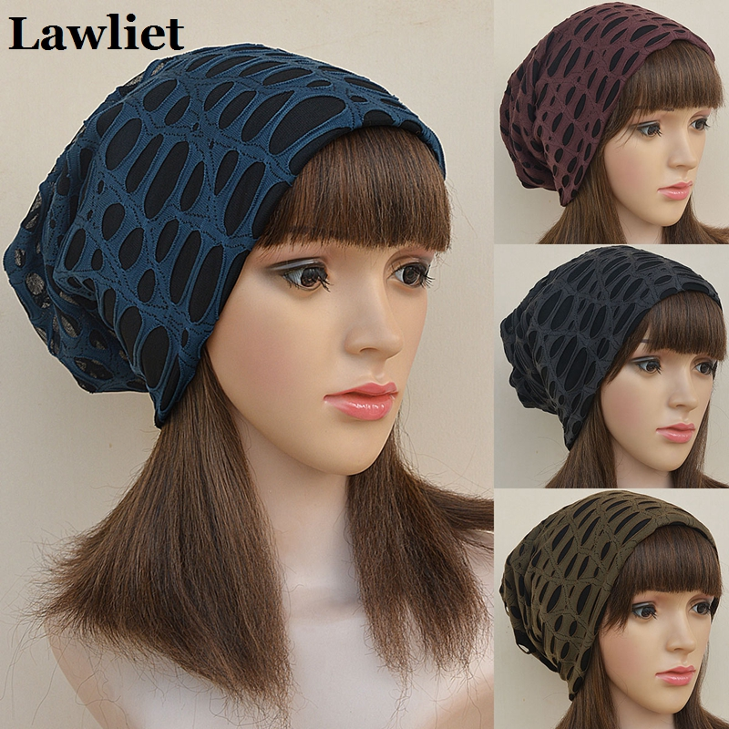 Winter Beanies Hats Unisex Baggy Destroyed Beanie Slouchy Hat For Women Adult Girl Casual Cap Skullies Hats A243 2017 new lace beanies hats for women skullies baggy cap autumn winter russia designer skullies