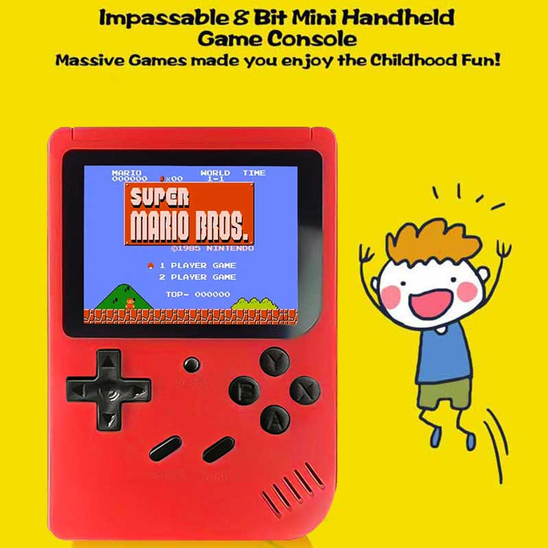 Image 2 - Retro Portable Mini Handheld Game Console 8 Bit 3.0 Inch Color LCD Kids Color Game Player Built in 400 games-in Handheld Game Players from Consumer Electronics