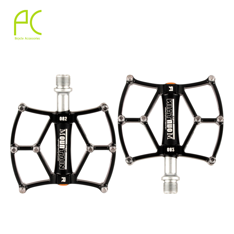 PCycling Bicycle Pedal 3 Bearing Large Aluminum Alloy Mountain Bike Pedals Road Cycling Pedals BMX UltraLight With Foot Nails 2016 new arrival bike pedal 4 colors board anode mountain bike nylon fiber bearing pedal bicycle anti skid dead fly feet