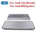 Car Carbon Cabin Air Filter For Audi A6 4F2 4F5 4FH C6 Allroad R8 Spyder 4F0898438A 4F0898438B 4F0898438C 4F0819439A 4F0819439C