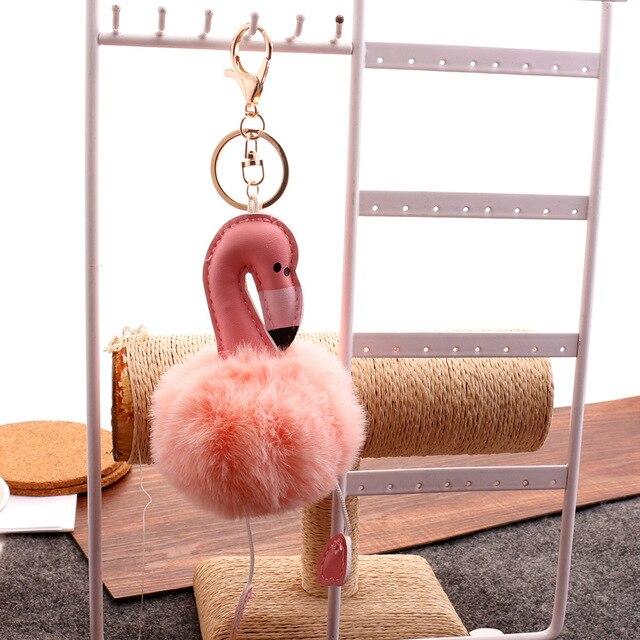 Cute Soft Fluffy Pompom Keychain Plush Toy Doll Keychain Pendant Charms Stuffed Toys For Children Gift