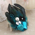 Women Feather Brooches Ladies Dress Fashion Jewelry Acrylic Broches For Christmas Gifts Safety Pin Brooch XZ012
