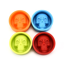 1 pc skull shape halloween cake mold joke gift Food Grade Silicone Cake Pudding Chocolate ice Mold