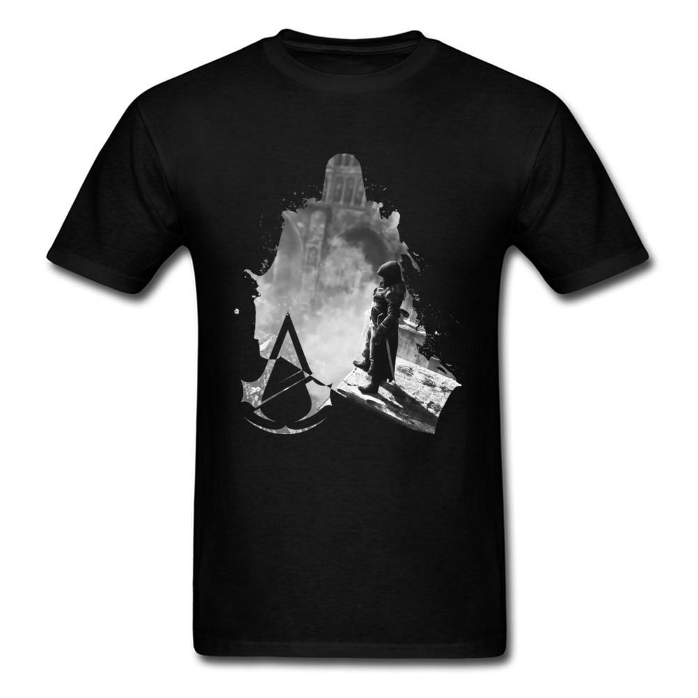 Liberty 2018 Men Black T-shirt Classic Ink Painting Warrior Man Print Stylish Male Tops & Tees Cotton Cool Tshirt Hot Sale