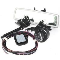 STYO Auto headlight switch+Rain Light Wiper Sensor+Anti Dimming Rear View Mirror For VW Passat B7 Tiguan Jetta MK5 Golf 6 MK6