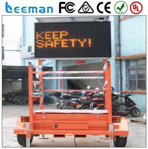 Leeman австралийский из светодиодов знак трейлер солнечной трафика vms грузовик реклама из светодиодов дисплей wifi прокрутки открытый двухсторонний из светодиодов света