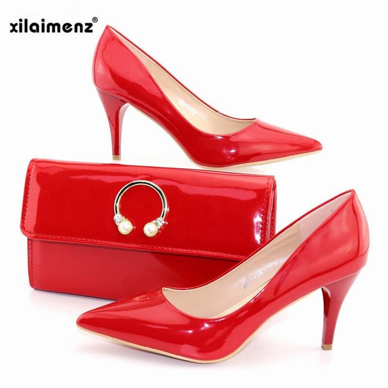 yellow Chaussures 8 Pense Dame Métal Décoration red Sac aqua Talons Black Rose Pur Couleur Et Ensemble Bureau Dames Avec En Pour Italiennes Pompes Mode Cm pink 8Oywvm0nNP