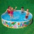 Бесплатная Доставка 2016 Симпатичные Kawaii Семья 152*25 см Ребенок Бассейн Высокая Безопасность Ребенка Плавать Детские ПВХ Бассейн бассейн Для Семьи