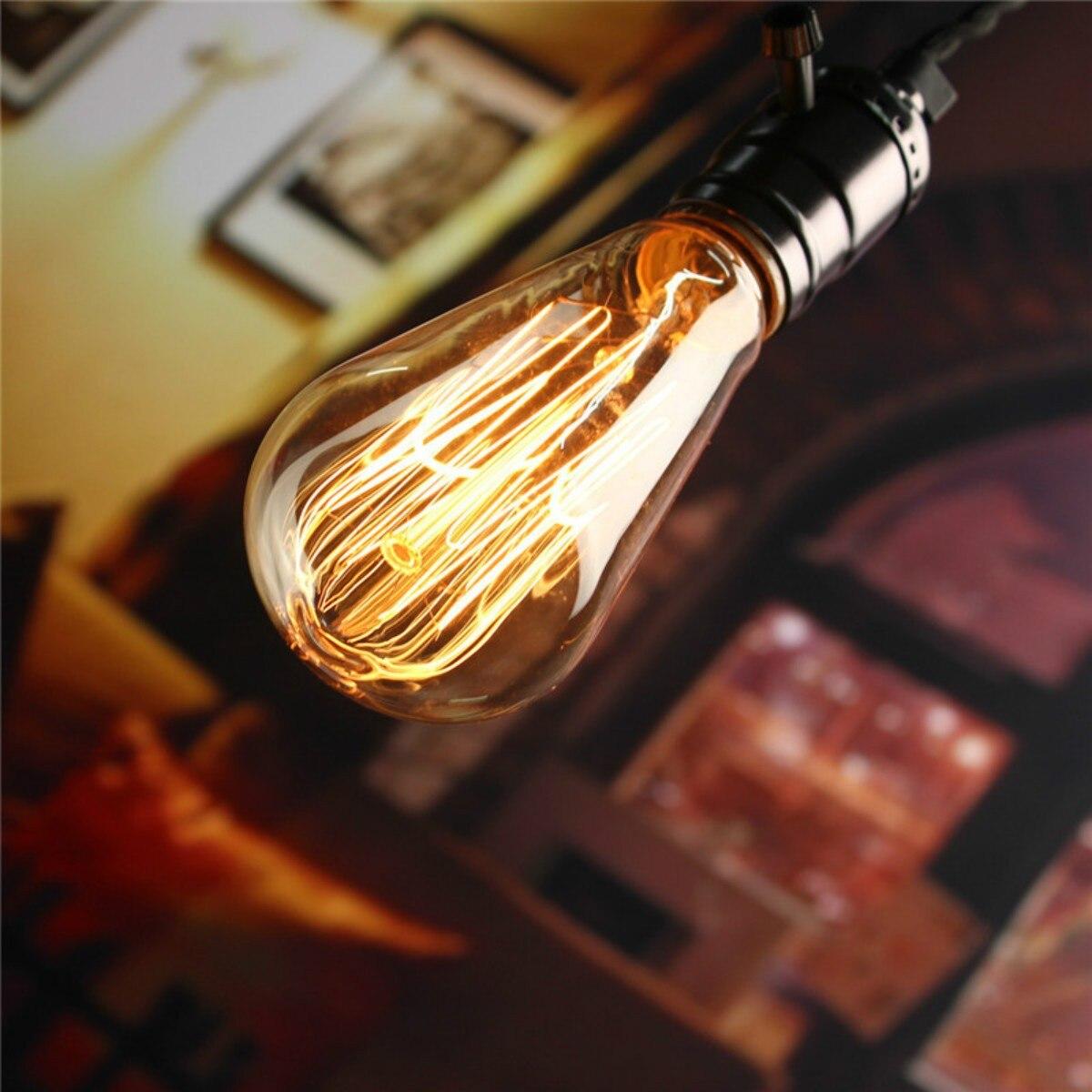 buy e27 vintage filament lamp 220v. Black Bedroom Furniture Sets. Home Design Ideas
