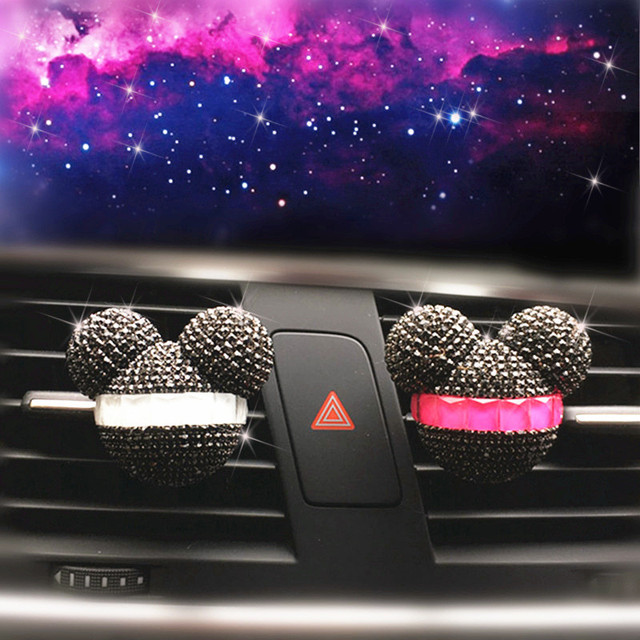 Luxury Car perfume Diamond Air conditioner Outlet clip Interior decoration Car Air Freshener Car Styling Perfumes 100 Original 3