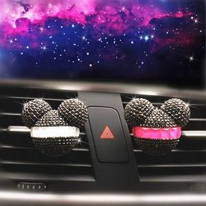 Image 4 - Luksusowy odświeżacz do samochodu diamentowy klimatyzator wylot klip dekoracja wnętrz odświeżacz powietrza do samochodu Car Styling perfumy 100 oryginalny