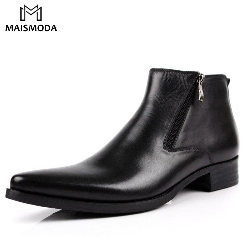 MAISMODA Männer Rindsleder Stiefel Aus Echtem Leder Spitz Atmungs Stier Muster Komfortable Oxford Kleid Schuhe Für Männer YL346-in Basic Stiefel aus Schuhe bei  Gruppe 1