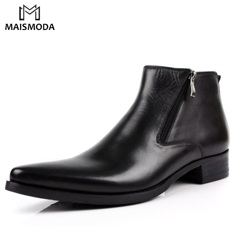 MAISMODA Men Cowhide Boots Genuine Leather Pointed Toe Breathable Bullock Patterns Comfortable Oxford Dress Shoes For Men YL346MAISMODA Men Cowhide Boots Genuine Leather Pointed Toe Breathable Bullock Patterns Comfortable Oxford Dress Shoes For Men YL346