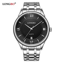 LONGBO 2017 Luxury Lovers Couple Watches Men Date Day Waterproof Women Gold Stainless Steel Quartz Wristwatch Montre Homme