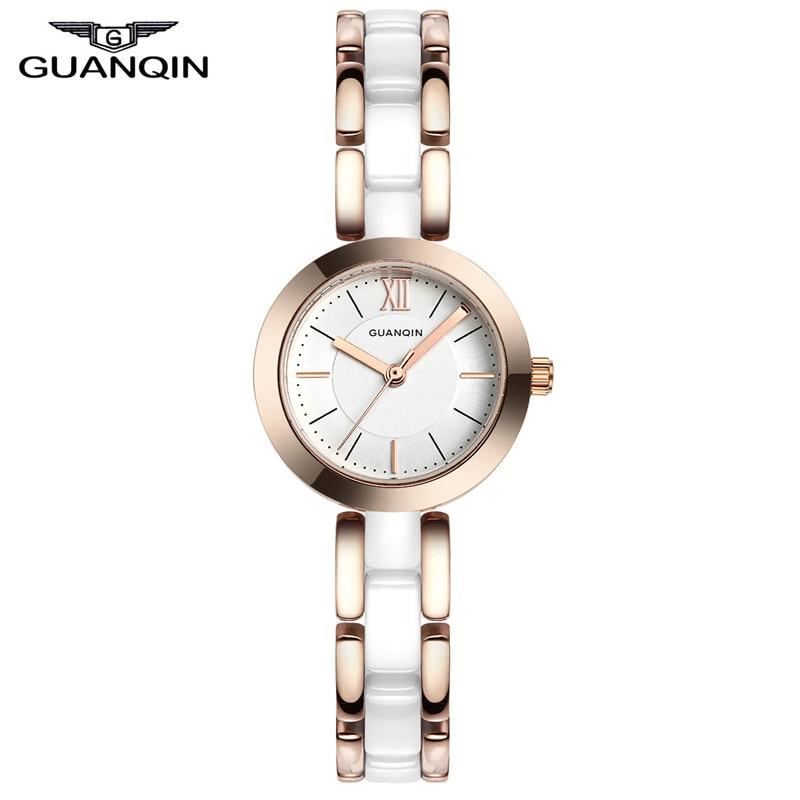 ФОТО GUANQIN GQ17001 Ceramic Women Watches Brand Luxury Ladies Quartz Watches Female Clock Fashion Casual Wristwatch Montre Femme