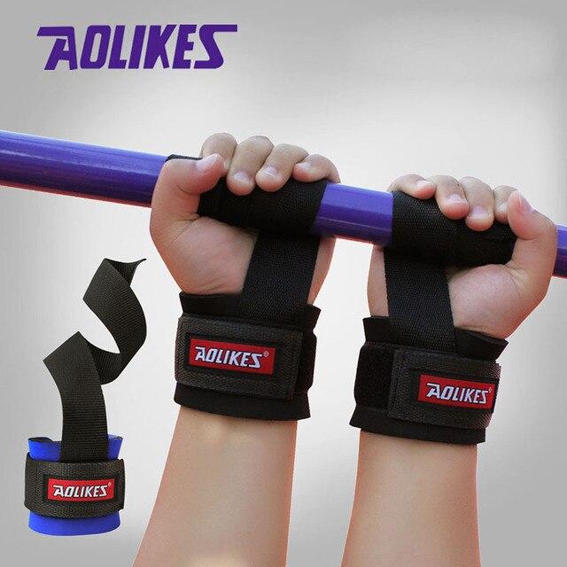 47eb54bfb5e5 € 1.98 23% de DESCUENTO|1 unids levantamiento de pesas gimnasio Sport  Wristband Fitness muñeca correas de apoyo Wraps con mano de energía bandas  ...