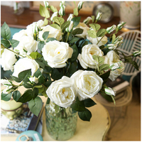 Big Foam White Rose Real Touch Rose Home Flower Artificial Flower Wedding Flower Dahlia Peony Party