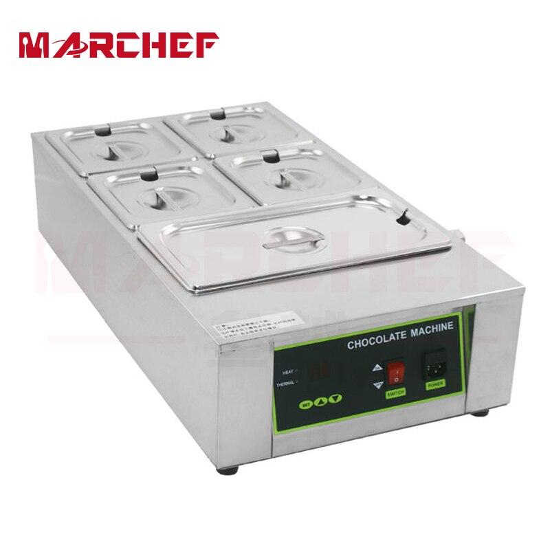 Commercial 110V 220V Electric Digital Chocolate Melter Warmer with 5 Melting Pot 1pcs 1000w 8kg capacity electric chocolate melter chocolate tempering machine