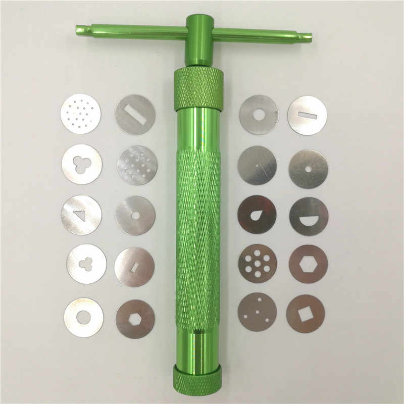 19 Discs Pottery Clay Fimo Extruder Craft Cake Sculpture Sugarcraft Sculpt Modeling Tool High Quality