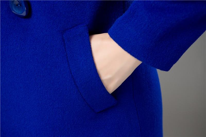 Wool Coat Female Fashion Women Woolen Coats High-end Elegant Long Slim Winter Jacket Royal Coats&Jackets Plus Size Femininos 4XL 12