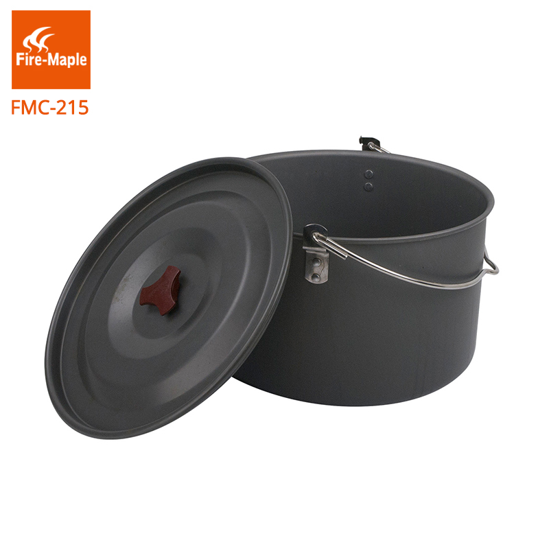 Fire Maple Outdoor Camping Large 8L Pot One Camping Hanging Pots Picnic Cooker Aluminum Cooking Pot