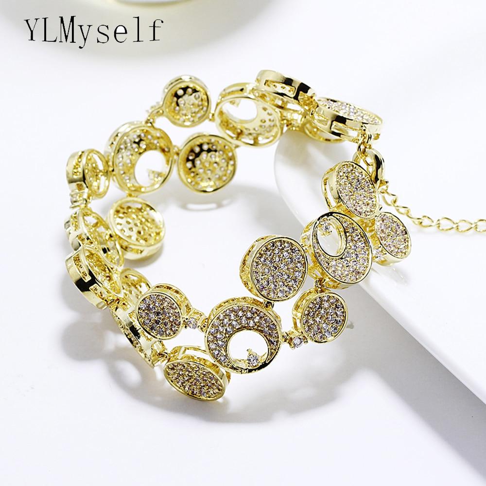 17.5 cm + 4 cm chaîne d'extension grand large bracelets de mode expédition rapide bijoux couleur or bijoux pour fête grand Bracelet