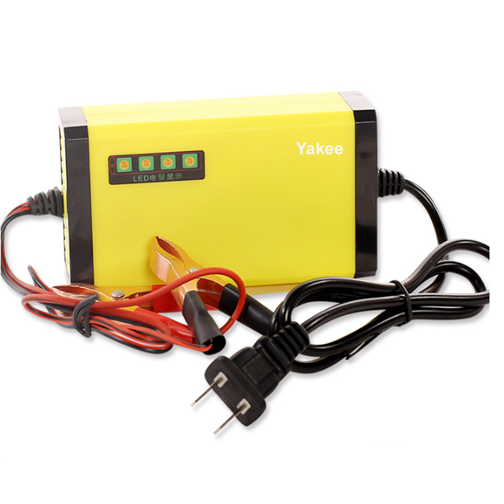 Yakee portable adapter power supply 12v 2a motorcycle car auto battery charger us plug intelligent charging