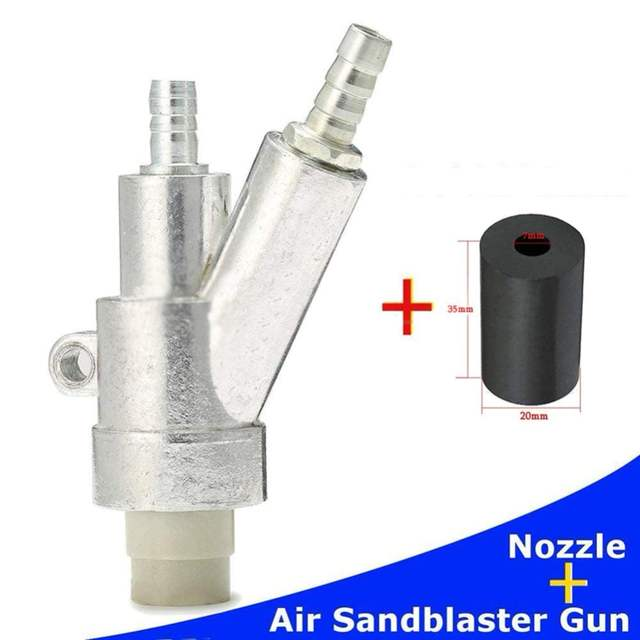 US $34 57 9% OFF|Air Sandblaster SandBlasting gun Kit for Rust Remove  Sandblast cabinet with 35*20*6mm boron carbide Sandblaster nozzle Tip-in  Spray