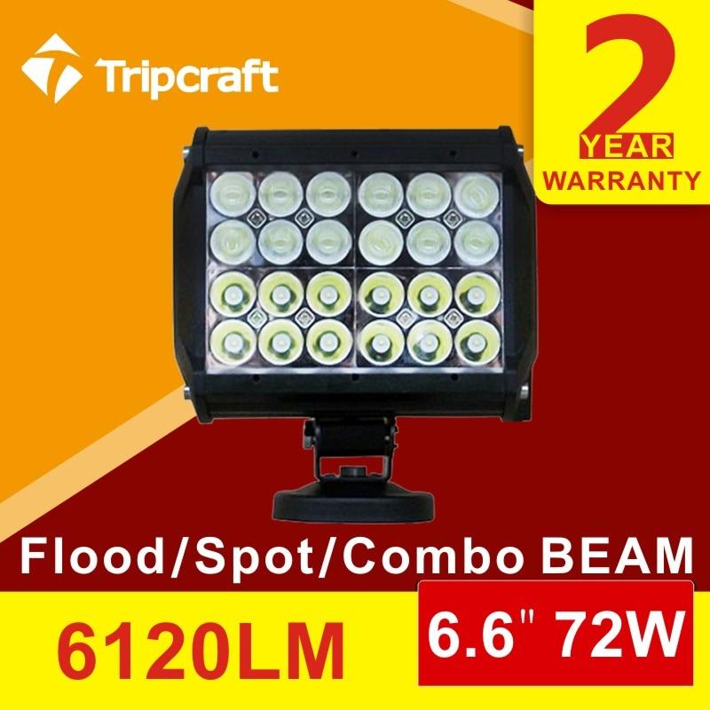 ФОТО high quality 4quad 72w led light bar spot Daytime running Light  truck boat car suv 4X4 bar driving fog light led work light 12v