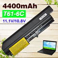 6 células 5200 mah bateria do portátil para ibm lenovo thinkpad t61 t61p r61 r61i t61u r400 t400