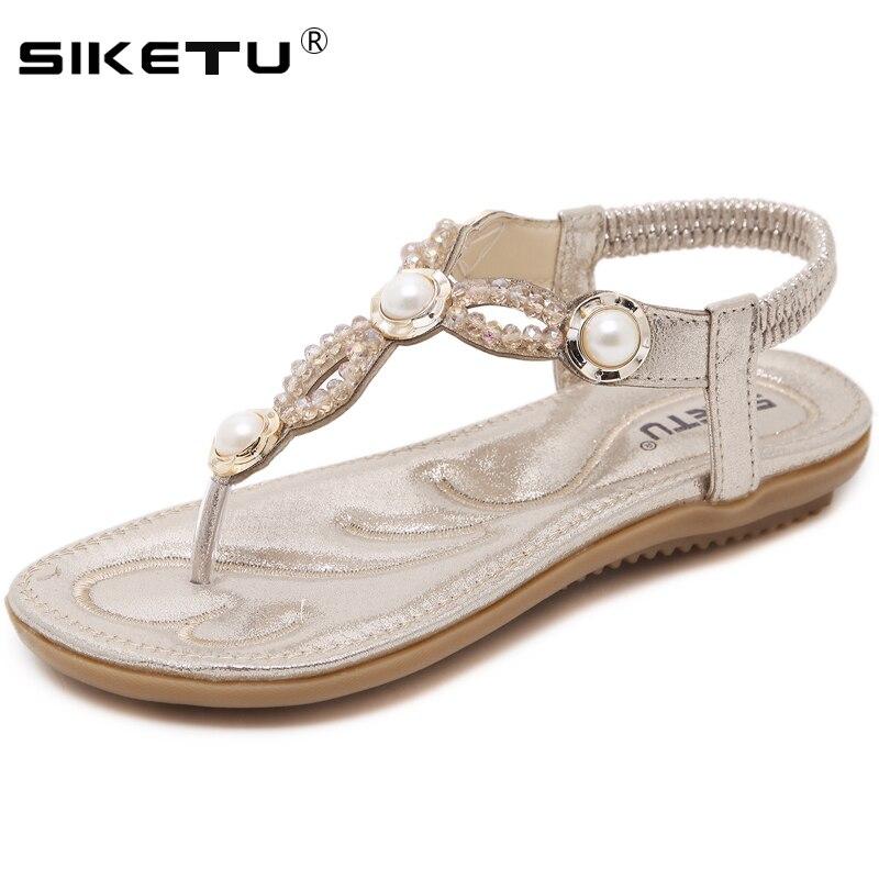 100% Vero Siketu 2019 Sandali Delle Donne Di Cristallo Gladiatore Sandalo Scarpe Da Donna Infradito Sandalias Mujer Scarpe Delle Signore Femminile Calzature Wsh2413