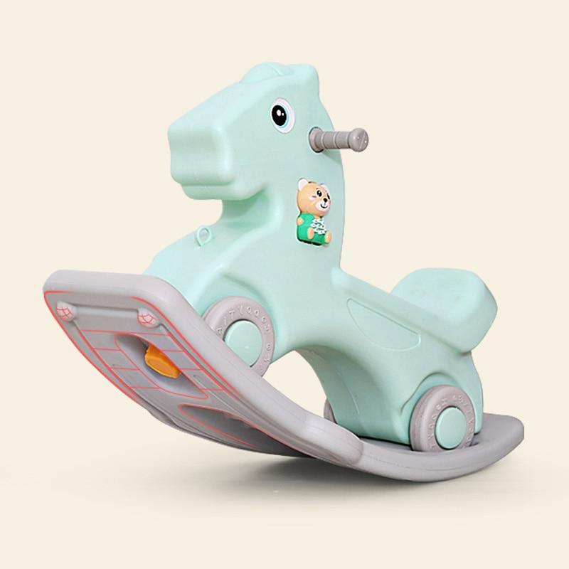 Детская блестящая лошадка, детская игрушка качалка, пластиковая игрушка для детей 1 6 лет, детская машинка качалка, детская комната, развивающие игрушки - 6