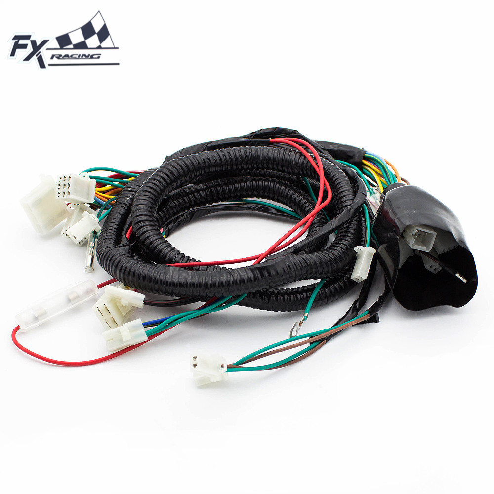 wire harness for gy6 125cc 150cc scooter dirt quad bike atv buggy bike atmoik go [ 1000 x 1000 Pixel ]