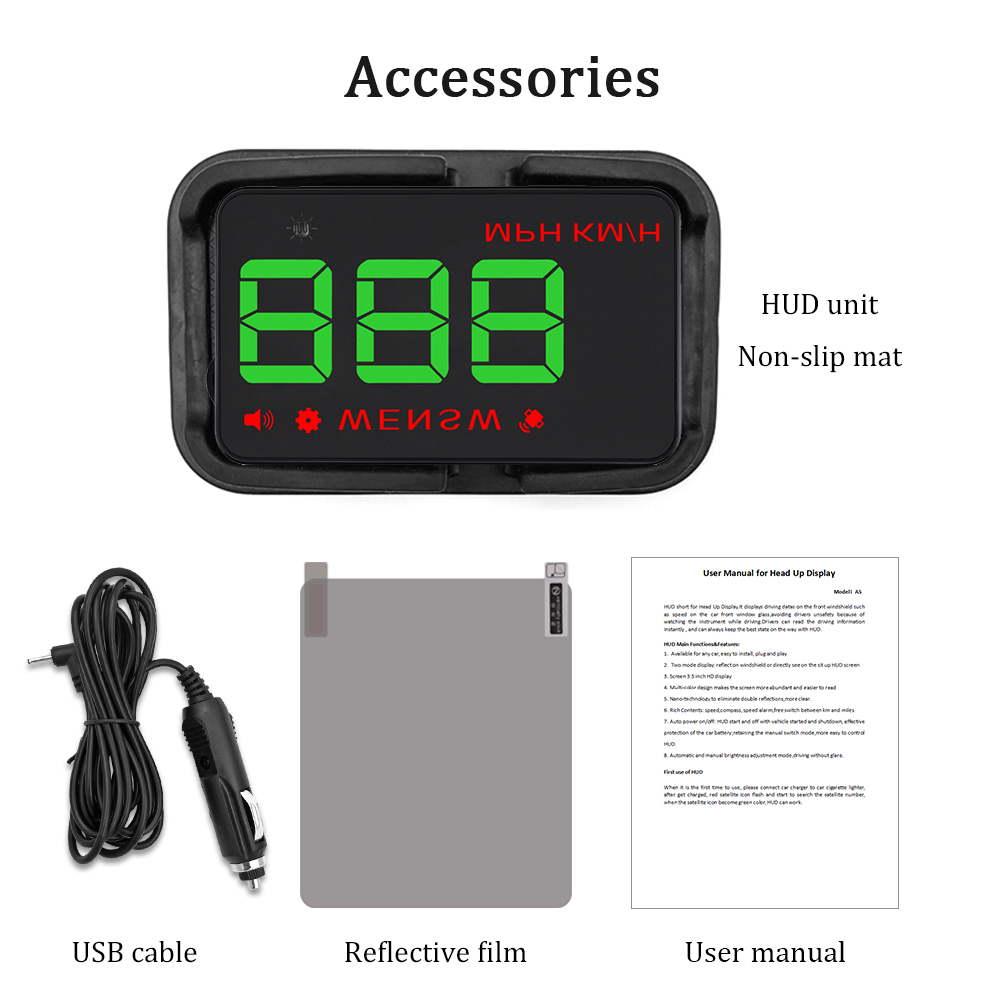 Image 5 - GEYIREN A5 Universal Car HUD GPS Satellite Head Up Display Overspeed Warning Voltage Alarm For All Car and Trucks-in Head-up Display from Automobiles & Motorcycles