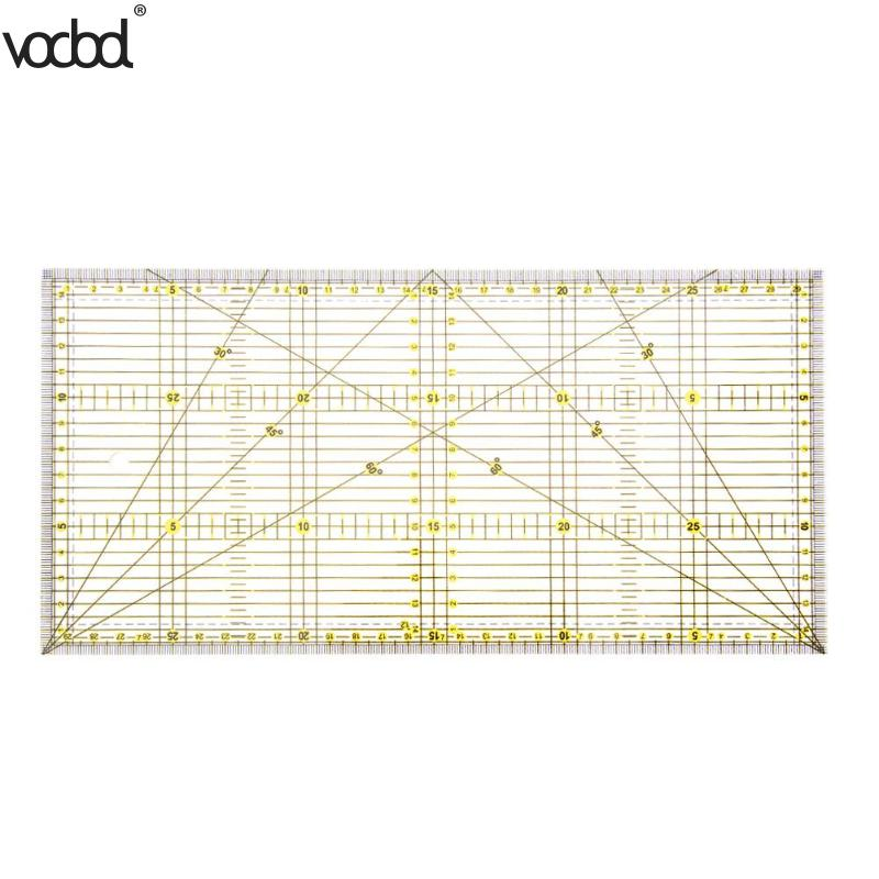 1pcs Multi-purpose Cloth Quilting Patchwork Aligned Ruler DIY Garment Design Grid Cutting Craft Scale Rule Drawing Tools Ruler