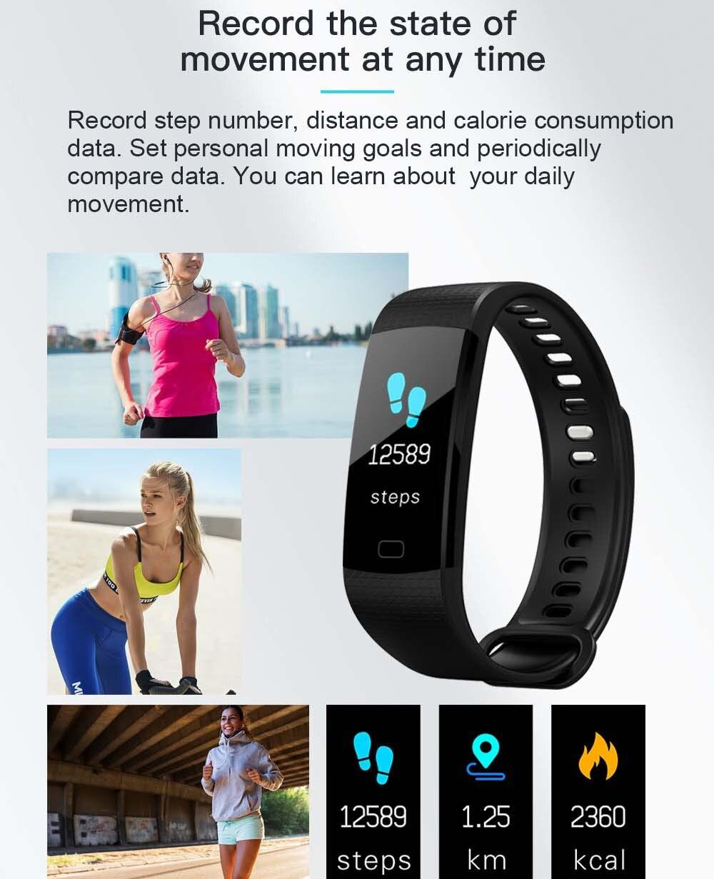 Pulsera deportiva inteligente con pantalla a Color K20, Monitor de presión arterial y ritmo cardíaco, para Cubot X15 X12 X17 X9 X6 - 4