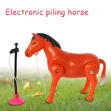 Plastic Electric Horse Around Pile Circle Toy Funny Cartoon Gift Educational Developmental Toys For Children(China)