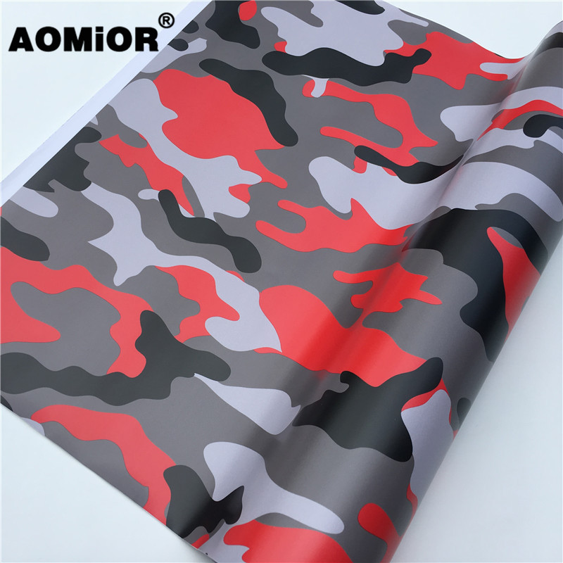 Premium Red Jumbo Camo Car styling Truck Body Rearview Mirror Decal Camouflage V
