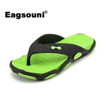 2019 New Summer Men's Shoes Fashion Casual Flat Flip Flops Beach Slippers For Men zapatos de hombre terlik home hausschuhe slide 1