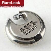 Rarelock Round 4 Digit Code Password Resettable Combination Cupboard Door Box Suitcase Lock Padlock