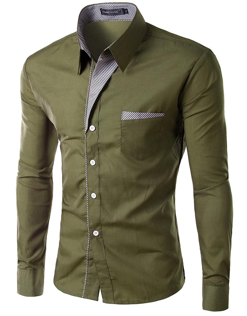 Shirt new design 2015 - 2015 New Dress Fashion Quality Long Sleeve Shirt Men Korean Slim Design Formal Casual