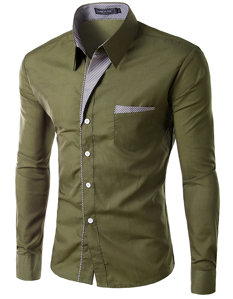 Shirt design new - 2015 New Dress Fashion Quality Long Sleeve Shirt Men Korean Slim Design Formal Casual