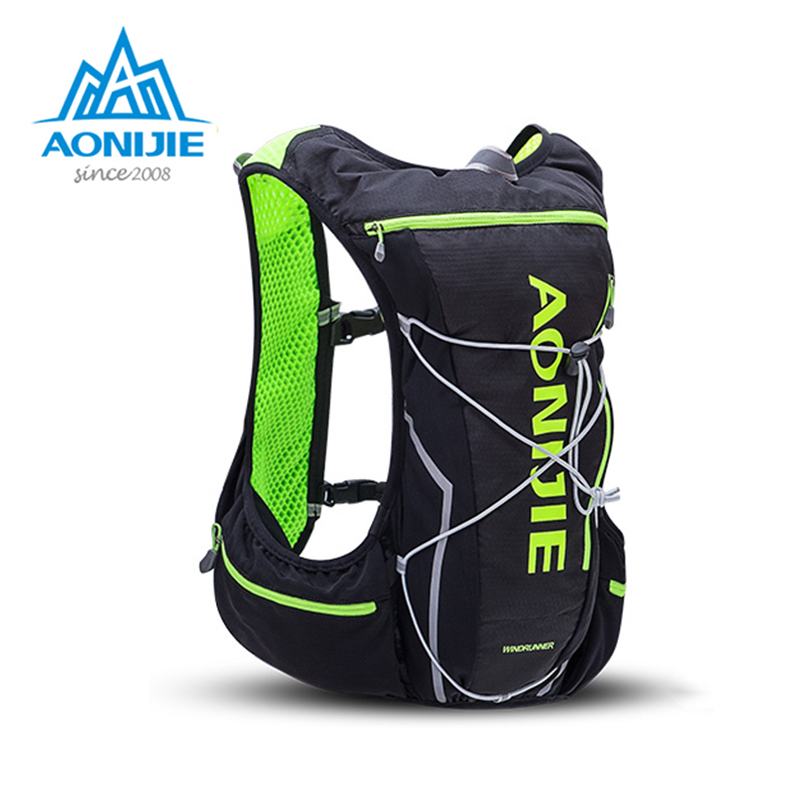 1150343065 AONIJIE 10L Bicycle Cycling Hydration Pack Backpack Rucksack Bag Vest  Harness Water Bladder Hiking Camping Running Race Sports