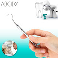 Double-ended Design Tooth Scaler Dentistry Instrument Dental Examination Teeth Cleaning Tool Stainless Steel Dental Tool