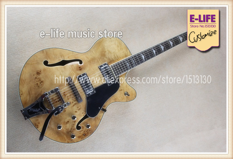 china oem musical instruments maple semi hollow body l5 jazz guitar natural deadwood top in. Black Bedroom Furniture Sets. Home Design Ideas