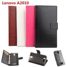 Высокое качество кожаный чехол для Lenovo A2010 флип чехол с карты памяти для Lenovo 2010 кожаный чехол телефона случаях