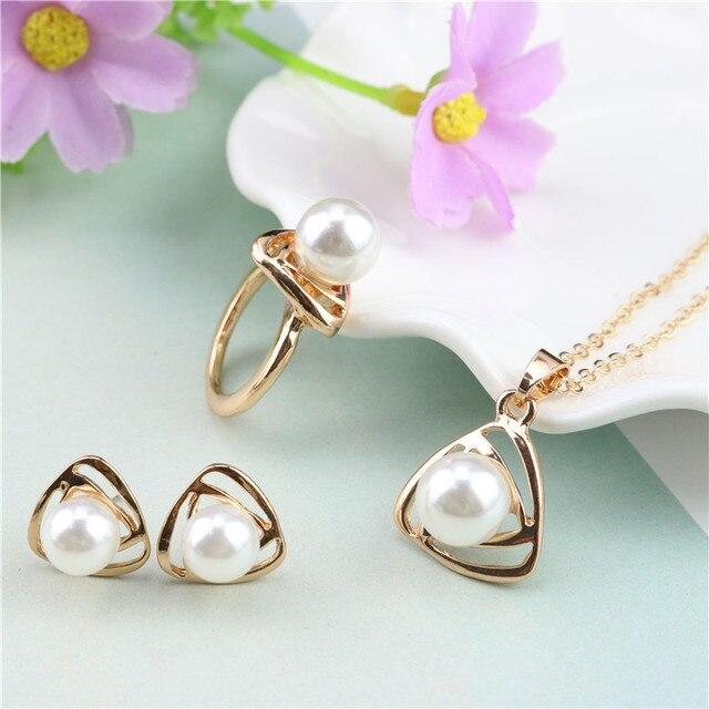 Bridal Jewelry Set Gold/...