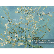 Top Skills Artist Handmade High Quality Vincent Van Gogh Almond Blossom Oil Painting For Wall Decoration