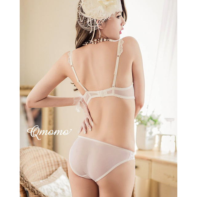 Luxurious Lace Embroidery Push Up Bra And Panty